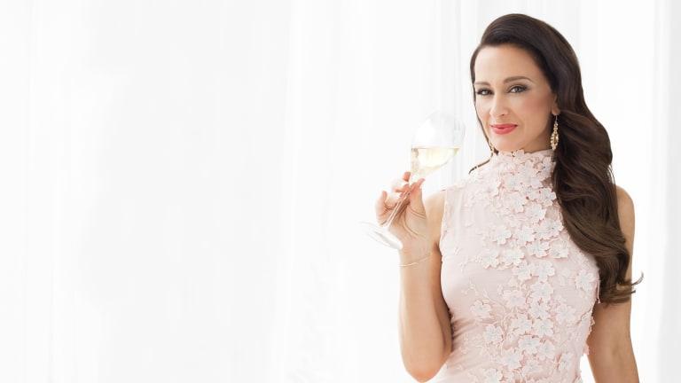 Kyla Kirkpatrick bills herself as the Champagne Dame.