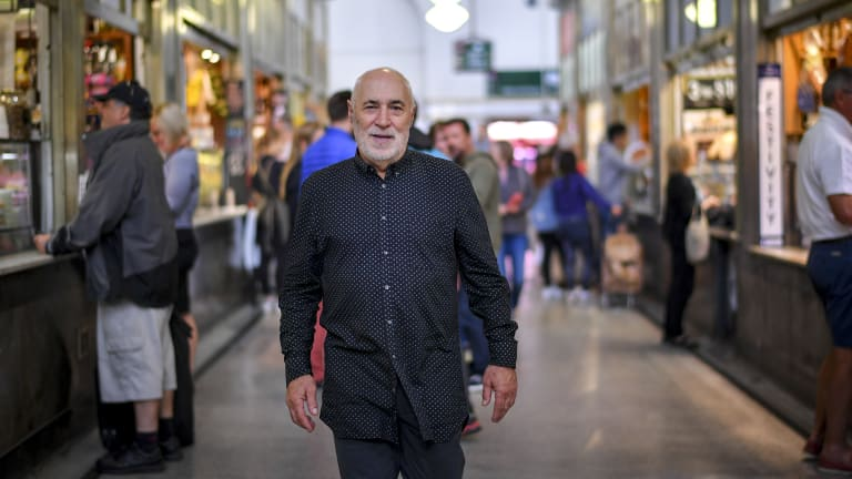 Phil Cleary at the Queen Vic Market.
