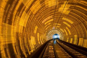 Shanghai's Bund tourist tunnel.