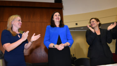 Standing ovation for Premier as Labor's new caucus meets for