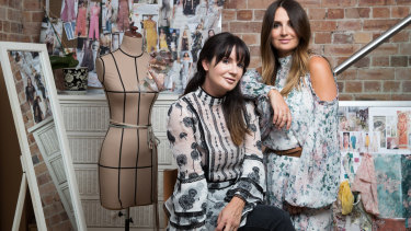 We Are Kindred's Georgie (left) and Lizzie Renkert in their studio in Surry Hills, Sydney