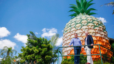 Big Pineapple owners Brad Rankin and Peter Kendall want to transform the ageing attraction.