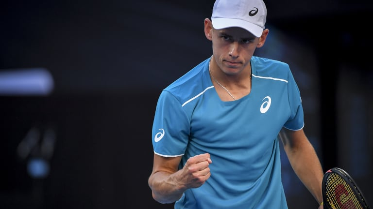Alex De Minaur has continued his promising form from the summer.
