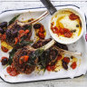 Neil Perry's barbecued veal cutlet with tomato and sage burnt butter