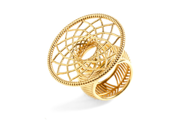 """""""Dreams"""" RING, From $495 Available in a number of finishes; shown here: 14k gold plate over sterling silver. IAMROCK.COM.AU"""