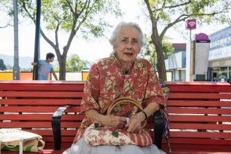 The number one issue is climate change says Mrs Dallas Simmons, 89, in Nowra.
