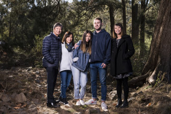 Kathleen Bautista and partner Nikola Kaleb with Kat's parents Ronnie and Rowena and sister Megan.