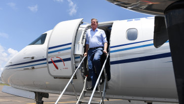 Opposition Leader Tim Nicholls touched down in Townsville on Wednesday,
