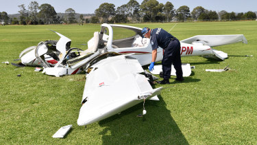 The single-engine, four-seat Diamond DA-40 crashed at Allenview, near Beaudesert, on Tuesday morning.