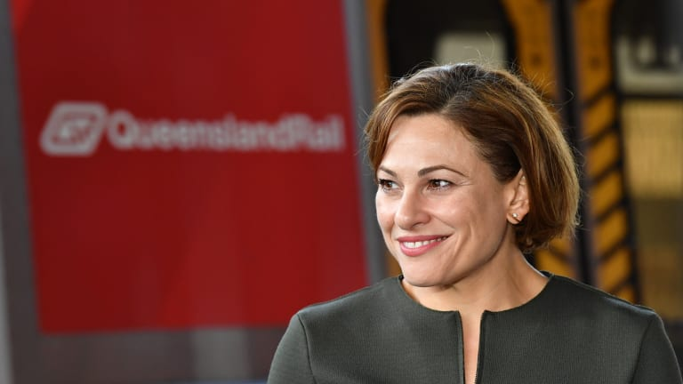 Transport Minister Jackie Trad confirms demolition has begun at Woolloongabba's Go Print site.