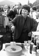 Senator Susan Ryan cuts a cake at a party to celebrate the passing of Sex Discrimination Bill in 1984.