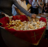 The Communion Bread blessed by the Pope