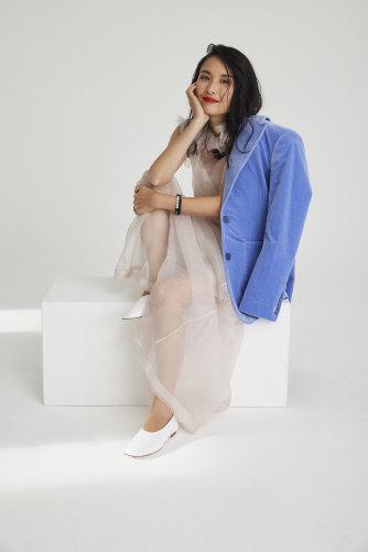 Alice wears Scanlan Theodore jacket, Nevenka dress, Skull & Pearl bracelets, Essen shoes.
