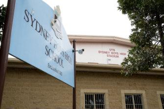 Sydney Boys High School, in Moore Park