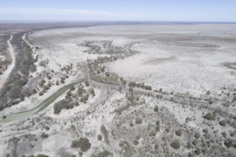 Lake Menindee , the largest of the Menindee lakes, in January 2019. Concerns over water management in the Murray-Darling Basin have generated headlines in the election campaign.