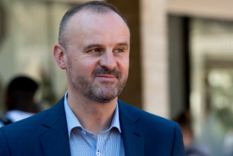 ACT Chief Minister Andrew Barr has rejected 'conspiracy theories' about the controversial Dickson land swap.