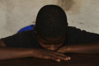 Former child soldier Victor, 15,  joined the Kamuina Nsapu militia in 2017.