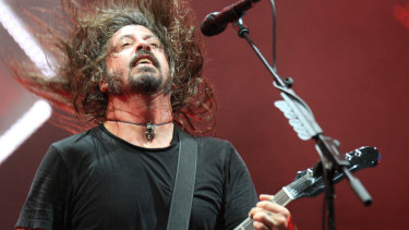 Foo Fighters played to a crowd of about 40,000 at Suncorp Stadium on Thursday night.