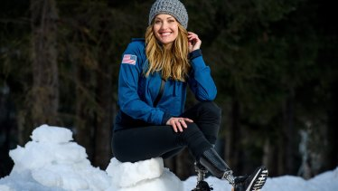 Amy Purdy of the USA.