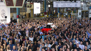 The last day of manufacturing of Holden cars in Adelaide. The last VFII Commodore Redline to come out of the Elizabeth Factory.