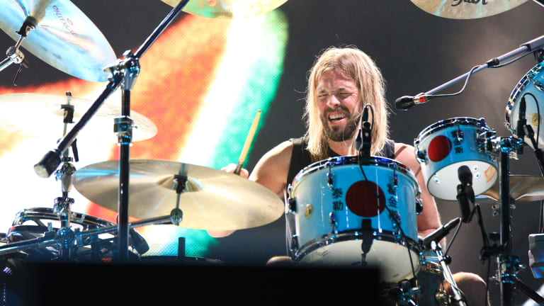 "Taylor Hawkins, Grohl's ""drummer from another mother""."
