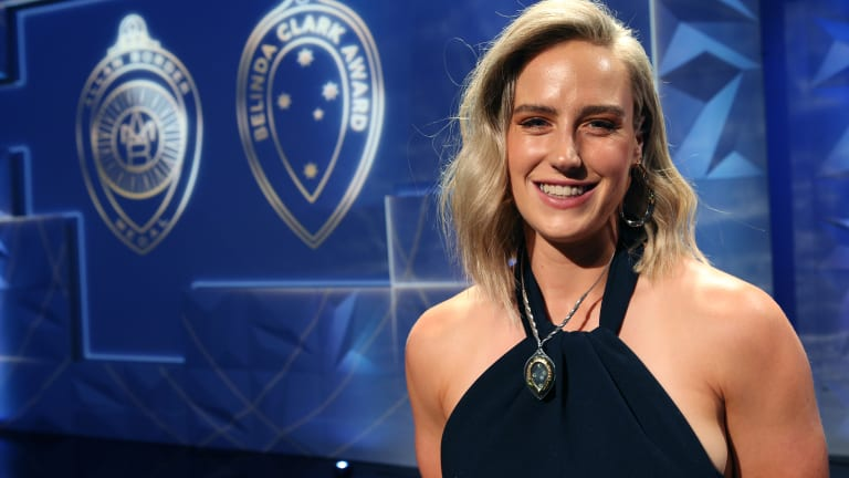 Ellyse Perry claims the title of Australia's top female cricketer on Monday night.