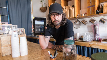 Double Dutch owner Chris Holland has been forced to give away coffees for free.