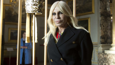 No fur: Donatella Versace.