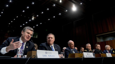 US intelligence and law enforcement chiefs front the Senate committee on intelligence to discuss worldwide threats.