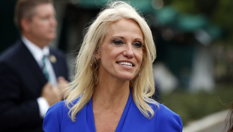 A federal watchdog says Conway violated the federal law prohibiting government officials from using their positions to influence political campaigns.