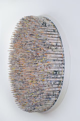 Hadieh Shafie, <i>Spike 29</i>, 2021, paper, acrylic pigment, ink. Courtesy of the artist and Yavuz Gallery, Sydney.