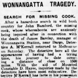 April 1918: <i>The Age</i> reports on the manhunt for John Bamford,  prime suspect in the murder of Jim Barclay.