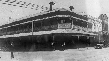The Grosvenor Hotel, Brisbane, circa 1929.