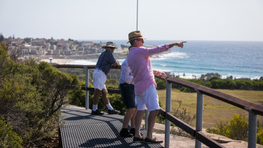 Fresh outlook: The new bush trail along Malabar Headland National Park is now open to the public.