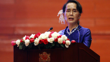 As the de facto head of state, Aung San Suu Kyi has not been outspoken enough against the military.