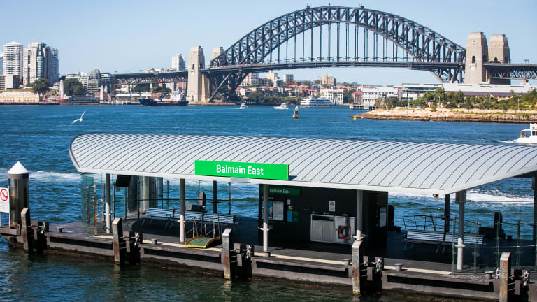 Ferry McFerryface crashed into the wharf at Balmain East on Wednesday morning.