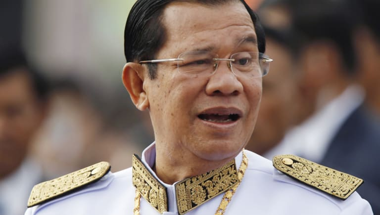 Cambodia's Prime Minister Hun Sen has banned the opposition CNRP.