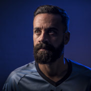 True Blue. Sydney FC captain Alex Brosque will play his last game in Sunday's grand final.