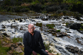 Garry Linnell at Buckley's Falls, Highton, Geelong, part of the area escaped convict William Buckley roamed with indigenous clans.