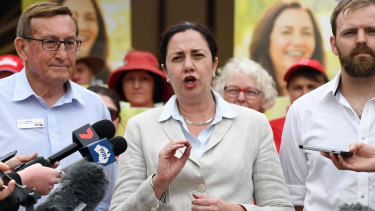 Premier Annastacia Palaszczuk campaigns in the final days before the state election.