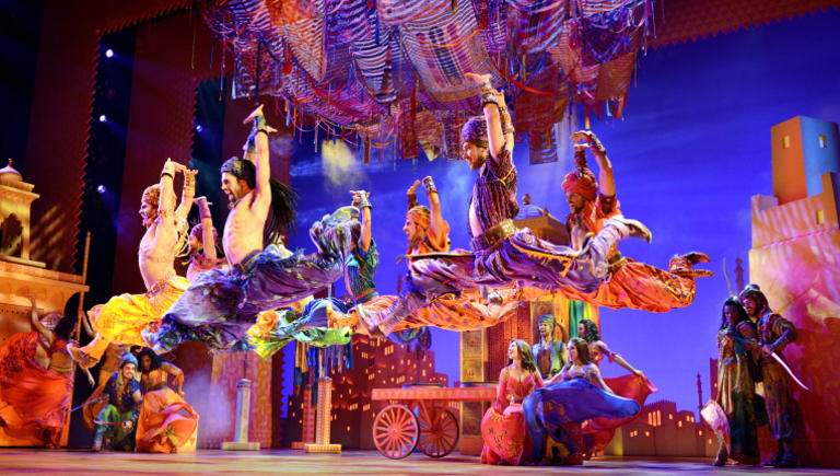 Aladdin promises to be a visual spectacular with vibrant costumes, extravagant sets and fireworks.
