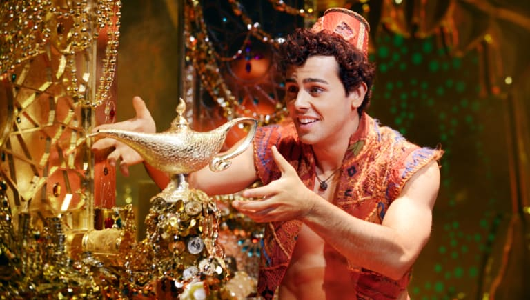 Ainsley Melham takes the role of Aladdin.