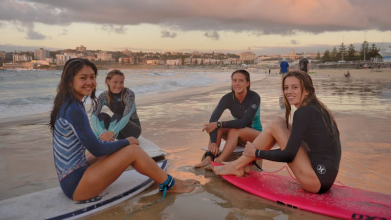 From left: Sarah Lucantonio, 17, and her teammates - Lucy Graham, 14, Laila Rich, 16, and Ebony Conrick, 13 - will compete to raise funds for healthcare services in remote parts of Indonesia.