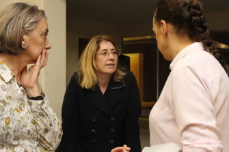 Rita Saffioti, before the election, listening to electors' concerns about DAPs.
