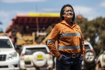Jeab Risk, an administrator at BHP Whaleback mine in the Pilbara.
