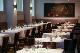 Inside upmarket CBD restaurant Ezard