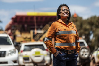 Jeab Risk, an administrator at BHP Whaleback mine in the Pilbara.