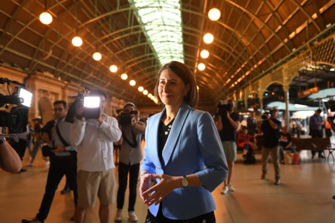 NSW Premier Gladys Berejiklian  announces work on a fast rail network.
