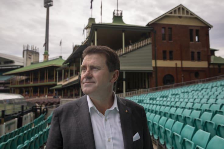Walking: Mark Taylor has resigned   from the Cricket Australia board.