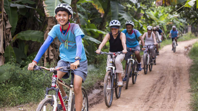 The Journeys of Change bike tour is run by Liger students.